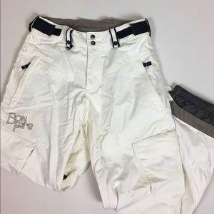Bonfire Pants - Snow White Bonfire Snowboarding pants size S
